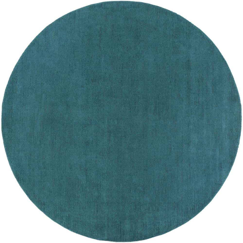 Artistic Weavers Falmouth Teal 8 Ft. X 8 Ft. Round Indoor