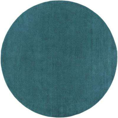 Falmouth Teal 8 ft. x 8 ft. Indoor Round Area Rug