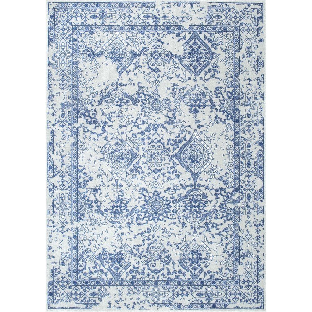 nuloom vintage odell light blue 9 ft x 12 ft area rug
