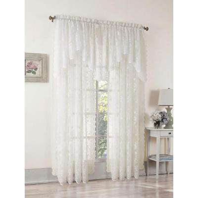 Sheer Ivory Alison Lace Curtain Swag, 58 in. W x 32 in. L