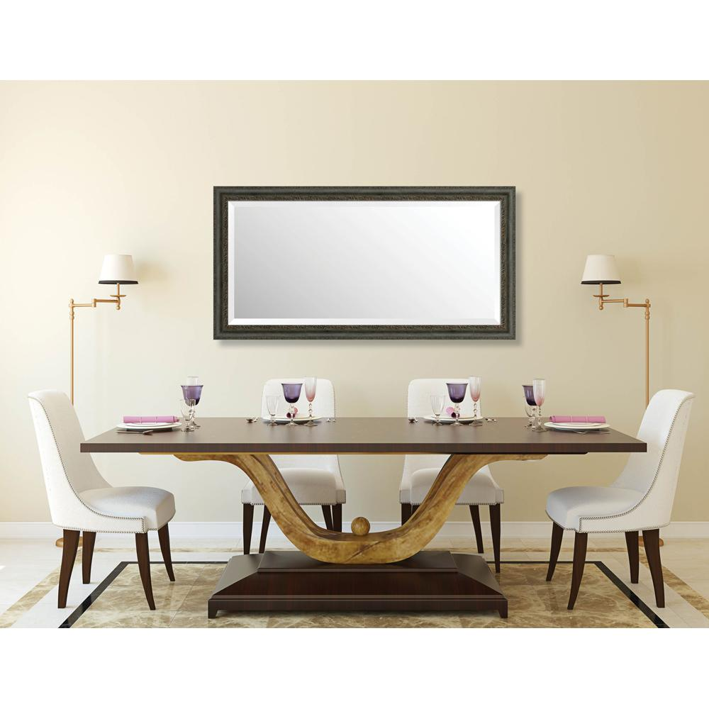 Richmond 24.375 in. x 48.375 in. Global, Eclectic Framed Bevel Mirror