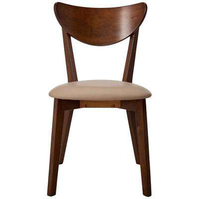 Brown We-Designed Wooden Dining Side Chair (Set of 2)