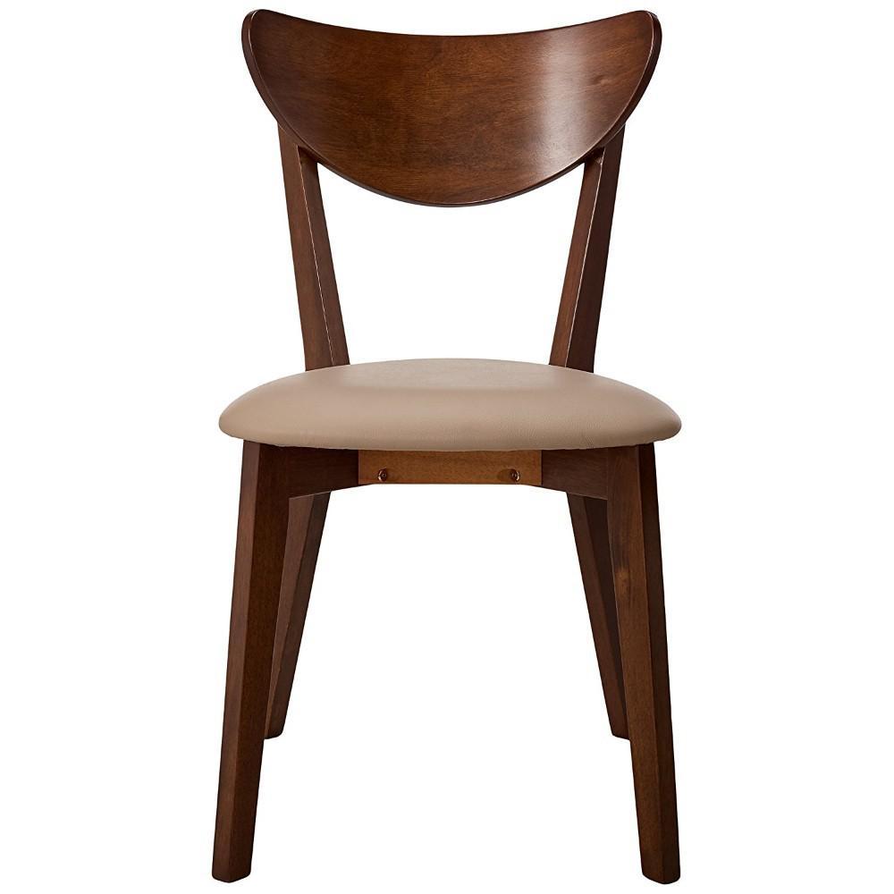Benzara Brown We-Designed Wooden Dining Side Chair (Set of 2) BM69306