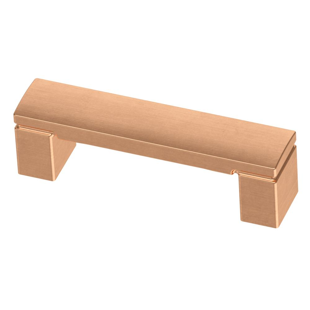 3 in. (76mm) Brushed Copper Simply Geometric Drawer Pull