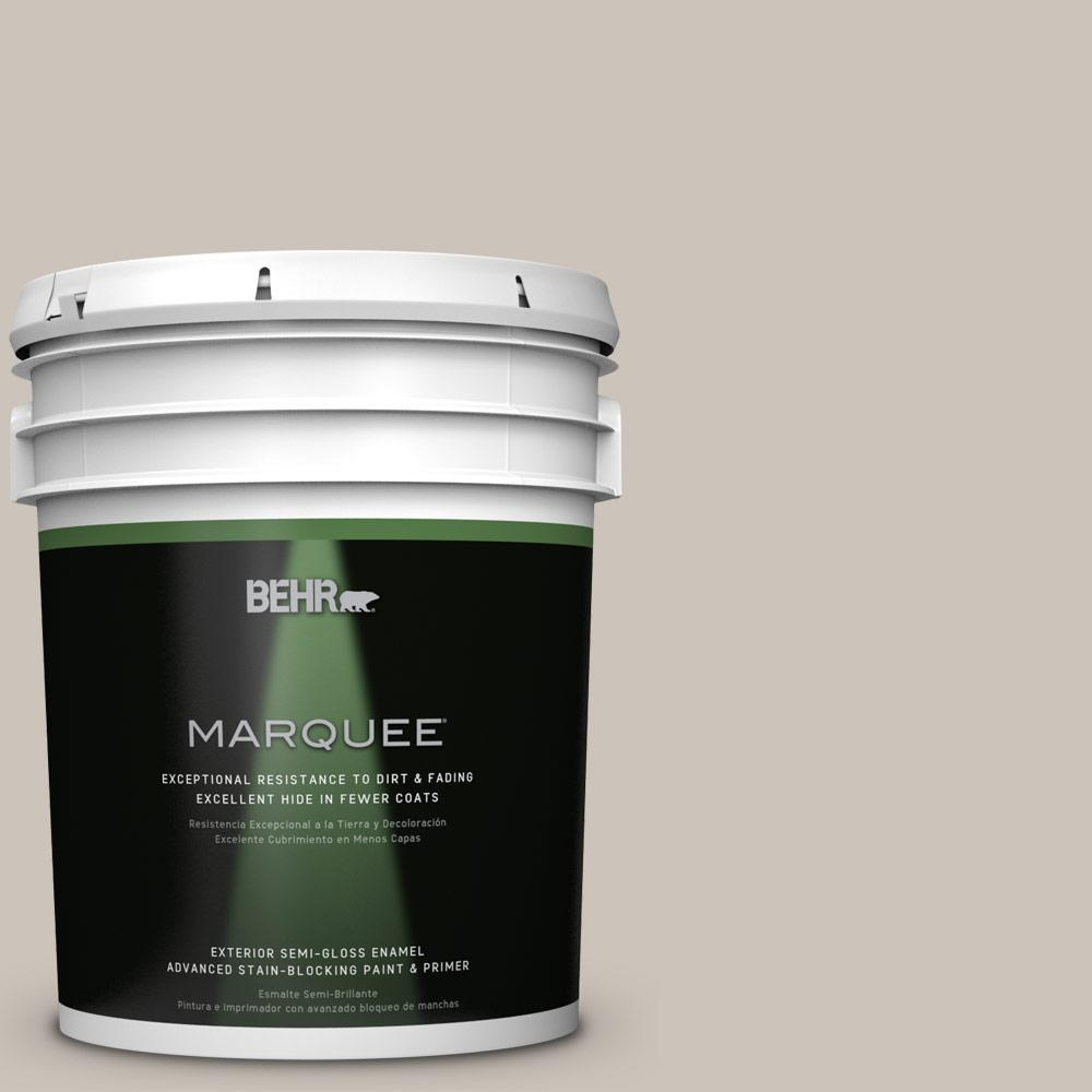 5-gal. #N200-2 Doeskin Gray Semi-Gloss Enamel Exterior Paint