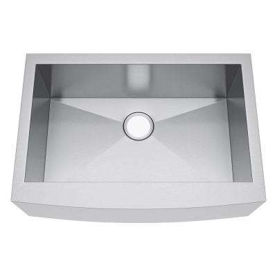 All-in-One Farmhouse Stainless Steel 30 in. Single Bowl Kitchen Sink