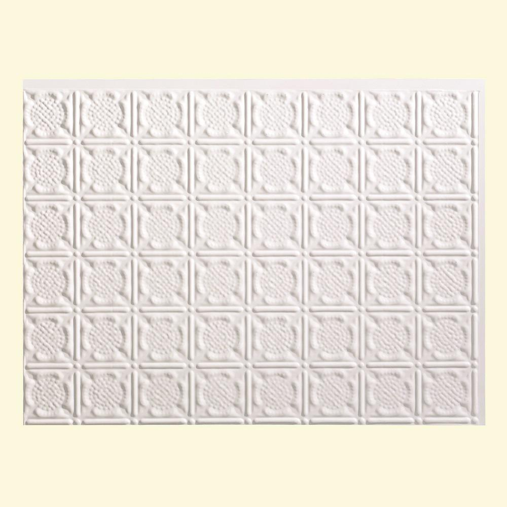 18 in. x 24 in. Traditional 6 PVC Decorative Backsplash Panel