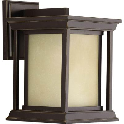 Endicott Collection 1-Light Antique Bronze 10.5 in. Outdoor Wall Lantern Sconce