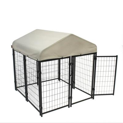 4 ft. x 4 ft. Pet Resort Kennel KIT with Sunbrella in Tahitian Sand