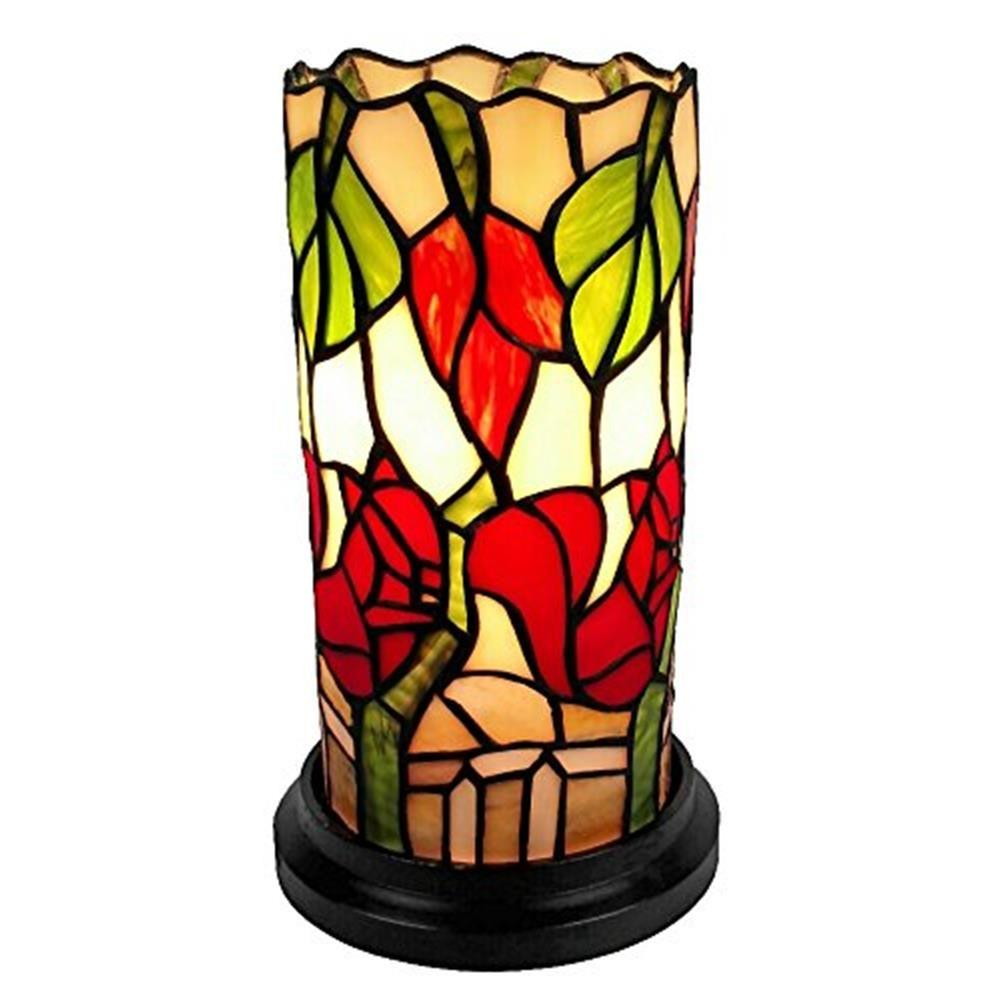 Amora Lighting 10 In Tiffany Style Floral Mini Table Lamp Am092acc