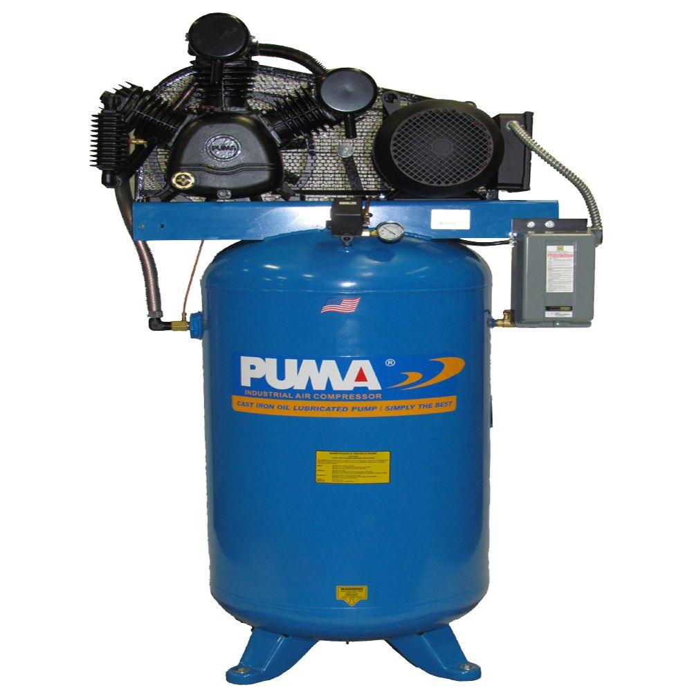 Puma 80 Gal. 7.5 HP Blue Electric 2 Stage Air Compressor