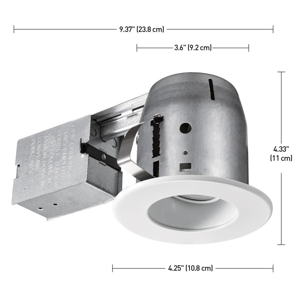 6x Set Mounting Frame Square Round GU10 MR16 Swivel Housing Recessed Spotlight