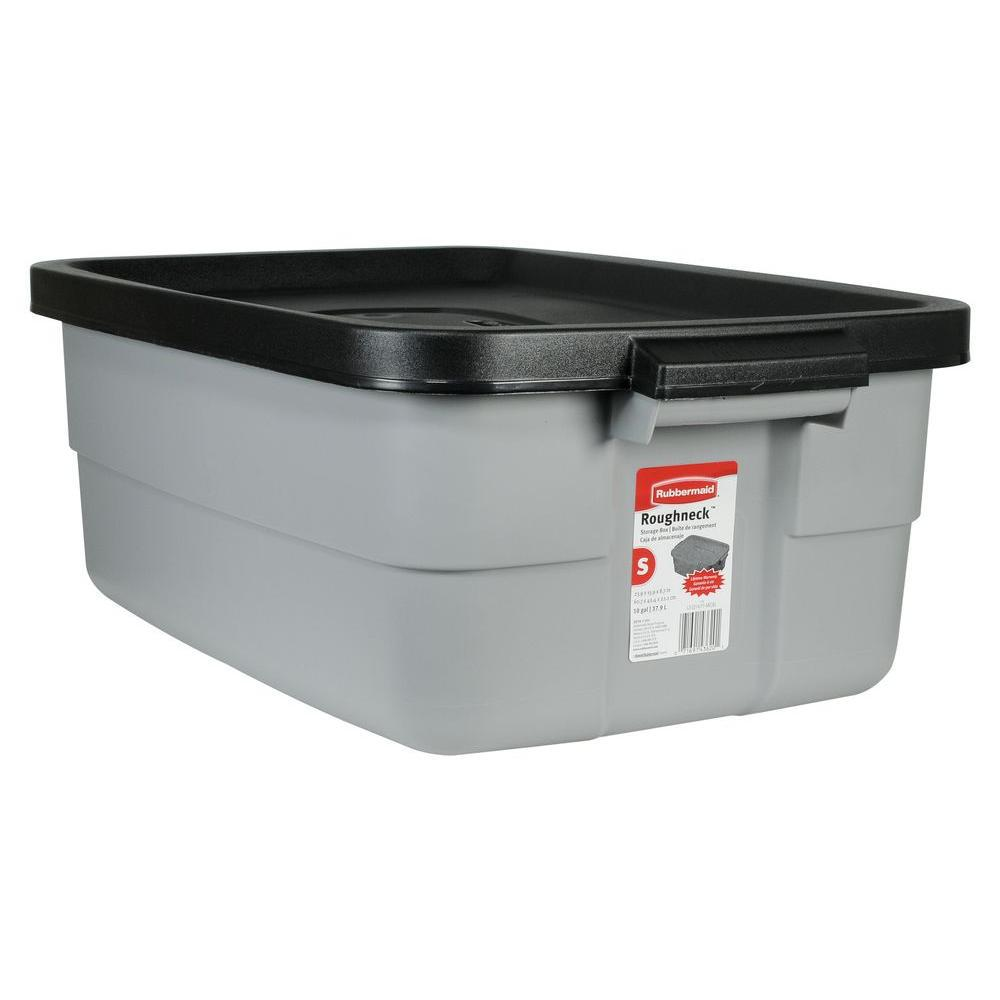 Rubbermaid 10 Gal Roughneck Storage Tote RMRT00 The Home Depot