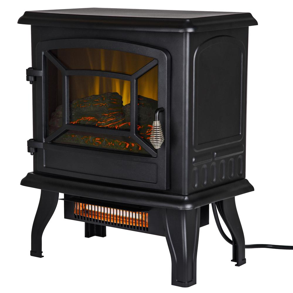 Pleasant Hearth 17 In 1 000 Sq Ft Infrared Electric Stove With