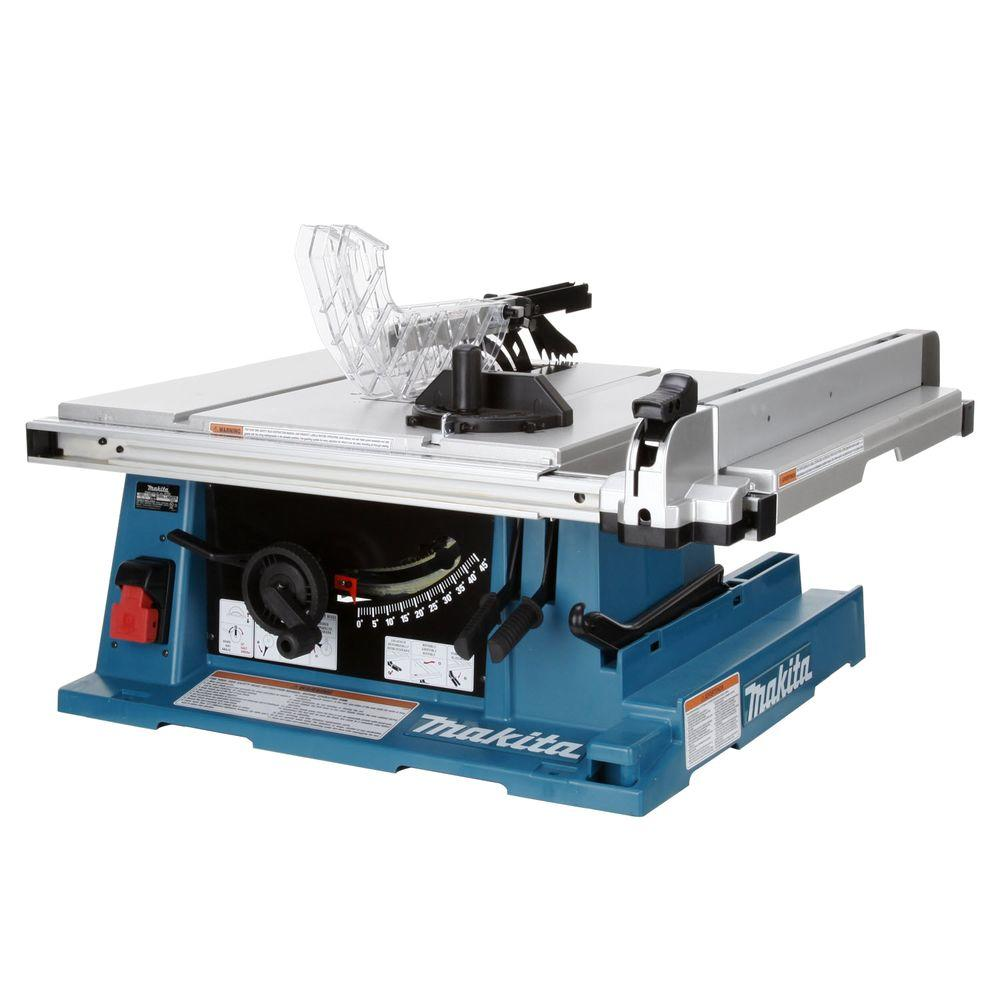 Makita 15 amp 10 in corded contractor table saw with 25 in rip corded contractor table saw with 25 in rip capacity and 32t carbide blade 2705 the home depot greentooth Images