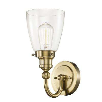 Norrell 1-Light Brushed Gold Bath Light