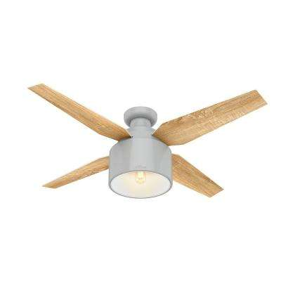 Cranbrook 52 in. LED Low Profile Indoor Dove Grey Ceiling Fan with Light Kit and Remote Control