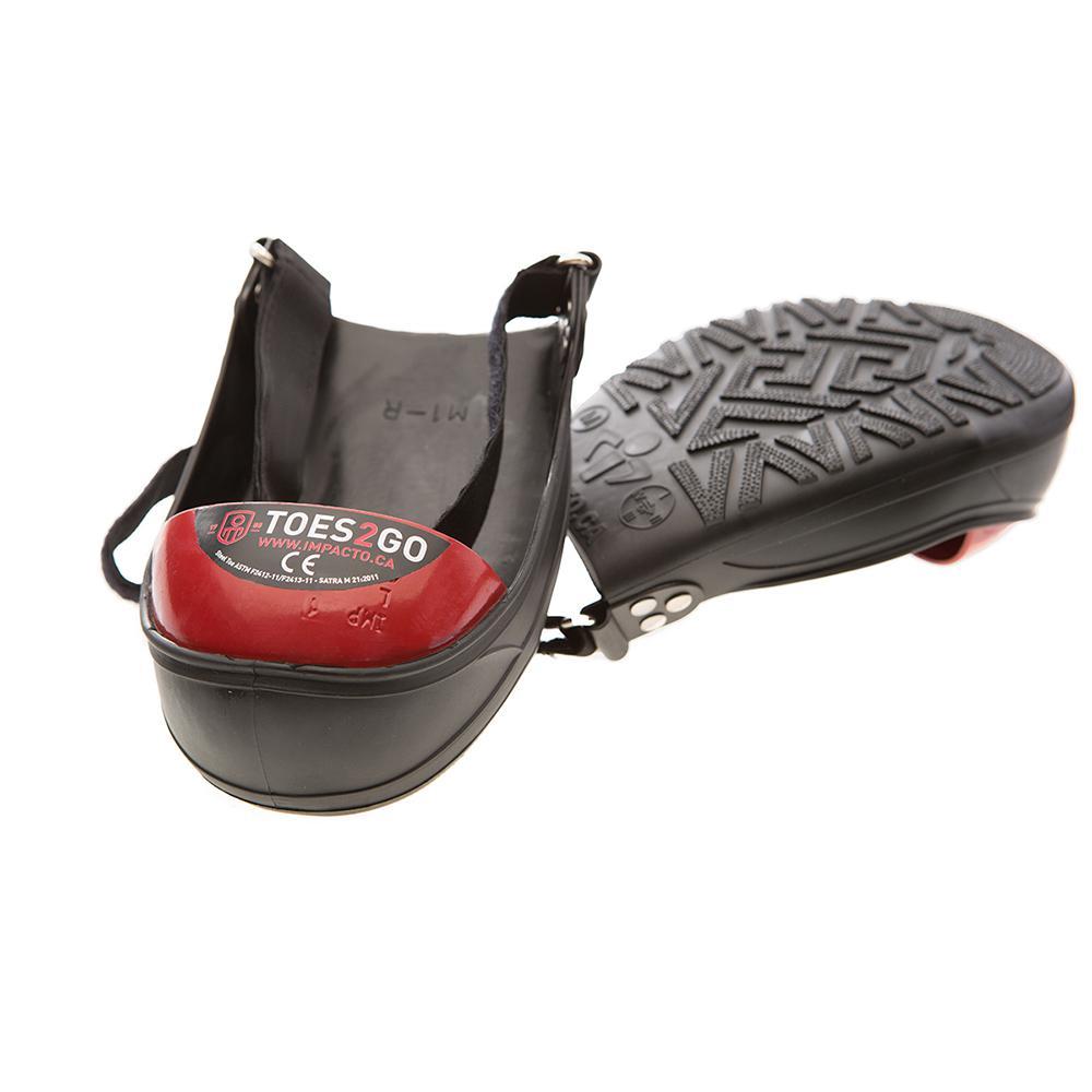 Men's 8-13 Women's 10-13 Black/Red Toes2Go Steel Toe Cap Overshoes