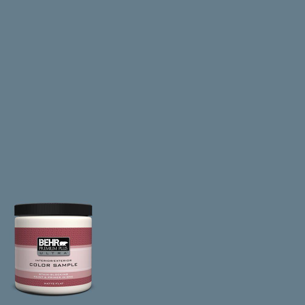BEHR Premium Plus Ultra 8 oz. #ECC-31-1 Windy Seas Interior/Exterior Paint Sample