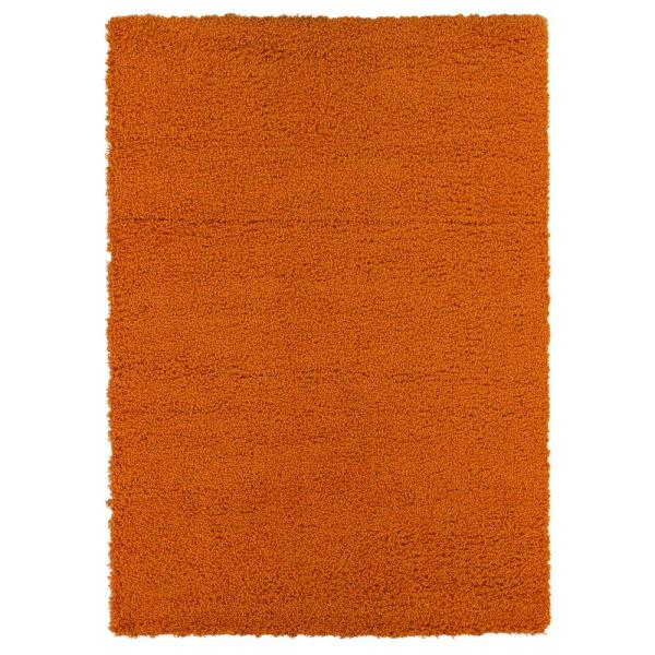 Sweet Home Stores Cozy Shag Collection Orange 5 Ft X 7 Ft Indoor Area Rug Cozy2761 5x7 The Home Depot