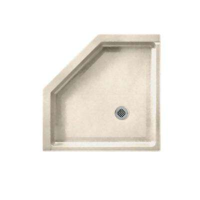 Neo Angle 38 in. x 38 in. Single Threshold Shower Floor in Tahiti Sand