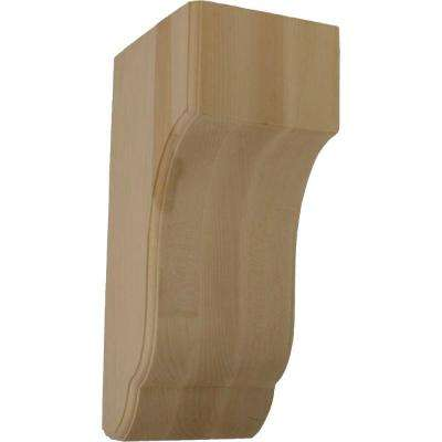 7 in. x 5-3/4 in. x 14 in. Unfinished Wood Rubberwood Capistrano Mission Corbel