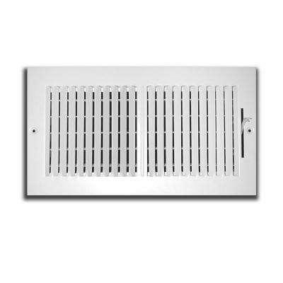 12 in. x 8 in. 2 Way Wall/Ceiling Register