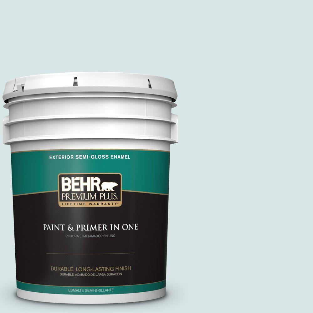 5-gal. #500E-2 Aqua Breeze Semi-Gloss Enamel Exterior Paint