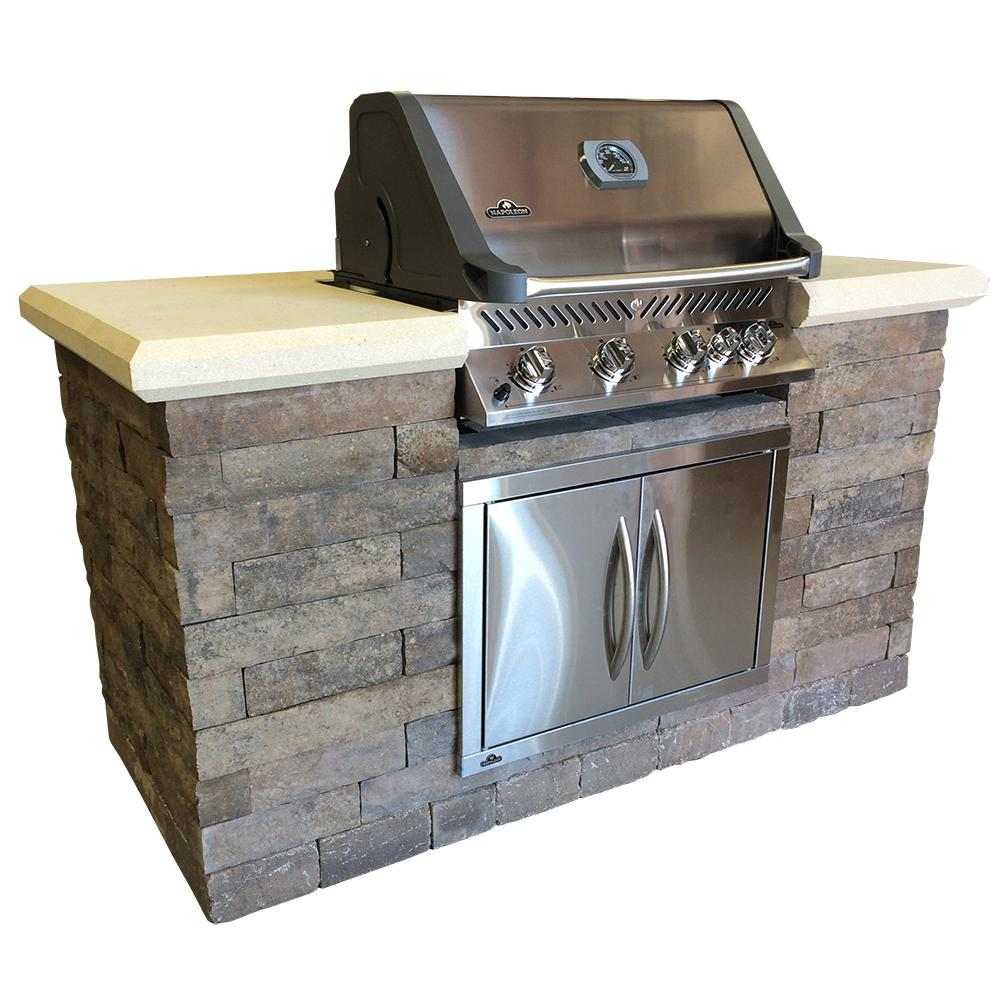 Avondale 6 ft. 5-Burner Built-In Natural Gas Grill Island