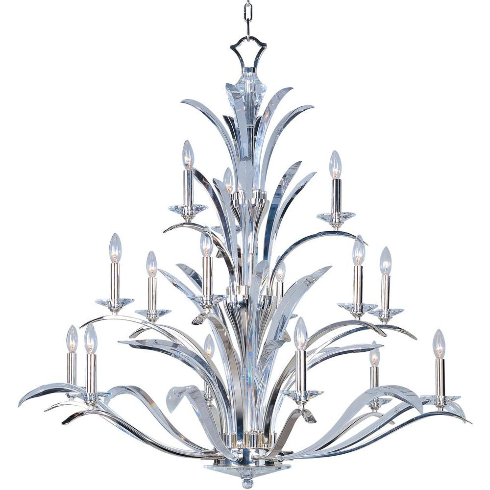 Maxim Lighting Paradise 15 Light Polished Silver Multi Tier