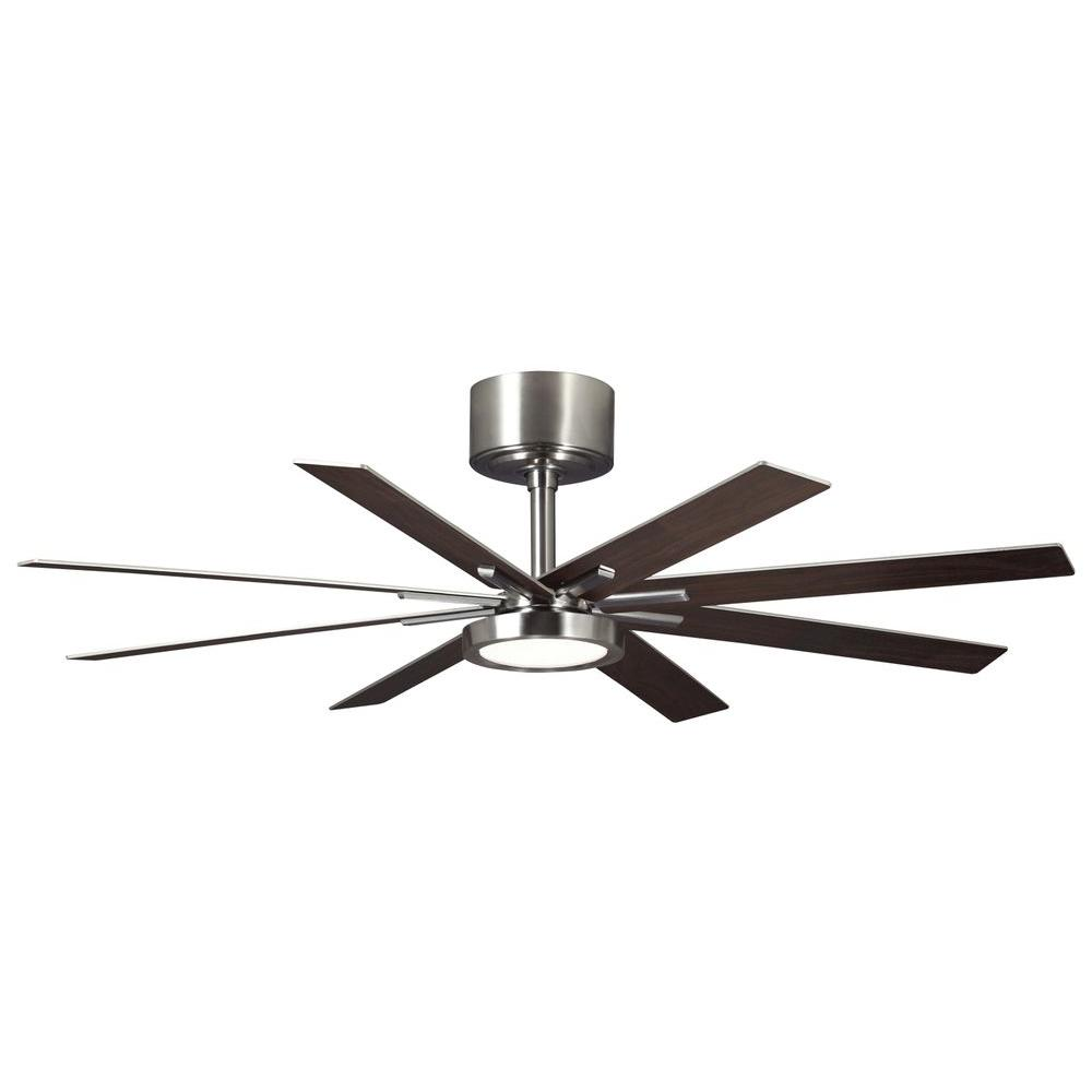 Monte Carlo Empire 60 in. LED Indoor Brushed Steel Ceiling Fan - Monte Carlo Empire 60 In. LED Indoor Brushed Steel Ceiling Fan