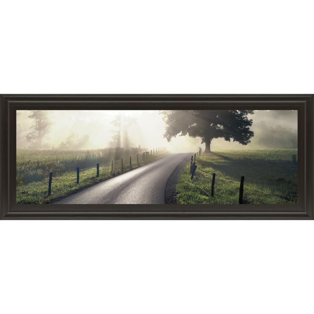 "18 in. x 42 in. ""Mountain Morning Glory"" by Todd Mcphetridge Framed Printed Wall Art"
