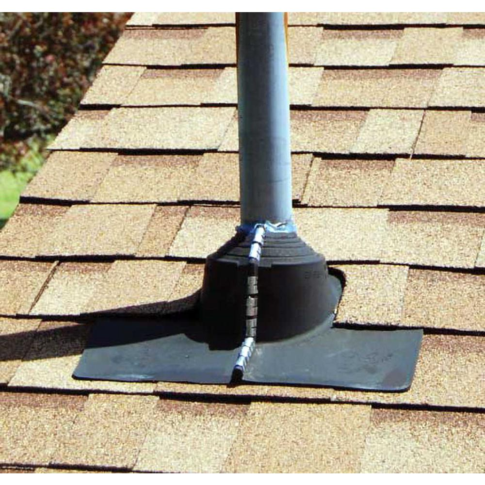 Gibraltar Building Products 11 In X 13 75 In Rubber Electrical Mast Split Pipe Boot Roof Flashing In Black 81746 The Home Depot