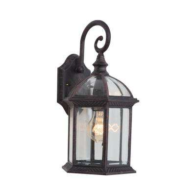 Anita Collection 1-Light Venetian Bronze Outdoor Wall-Mount Lamp