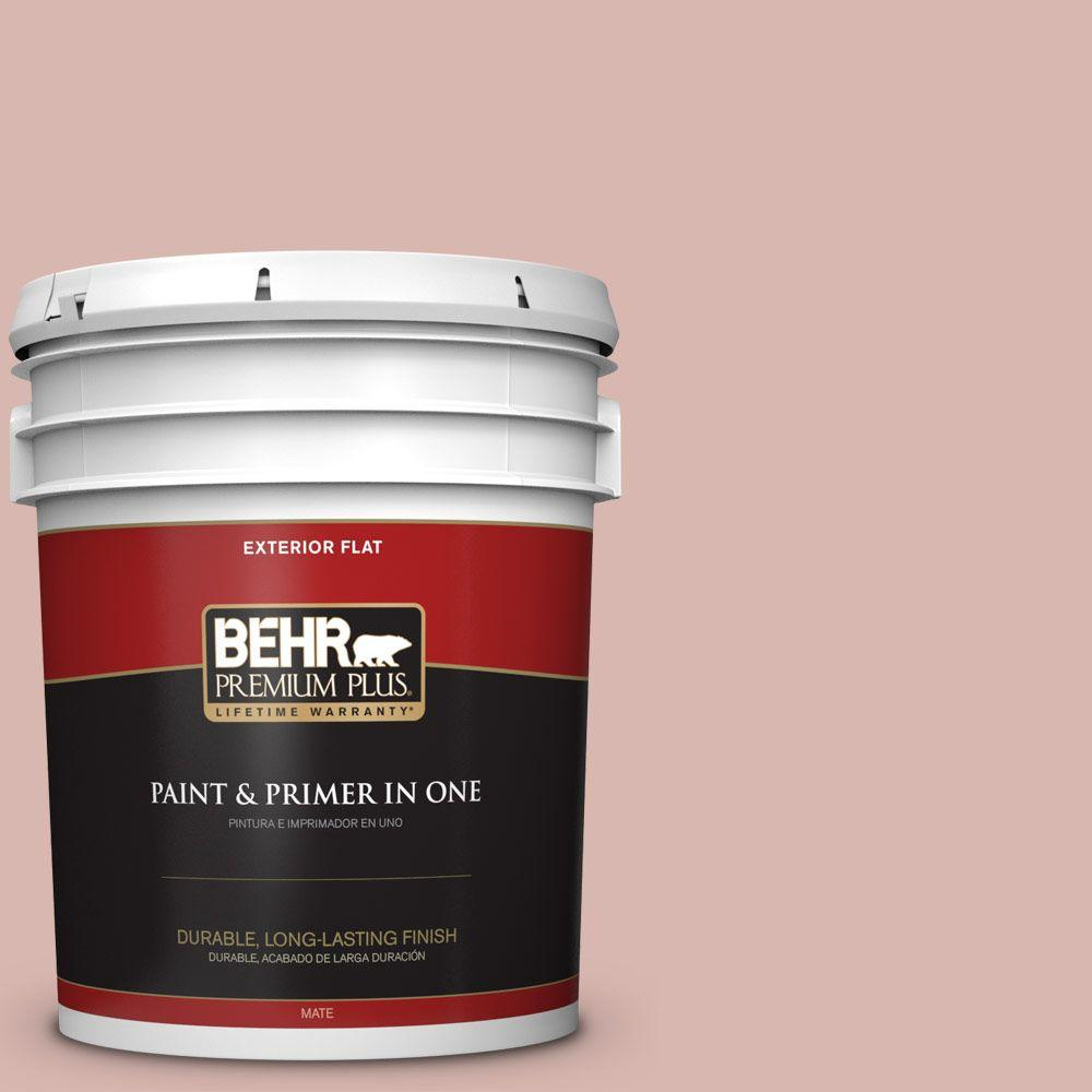5-gal. #170E-3 Bridal Rose Flat Exterior Paint