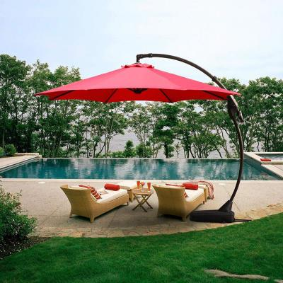 Manual Tilt 11 Ft Cantilever Umbrellas Patio Umbrellas The Home Depot