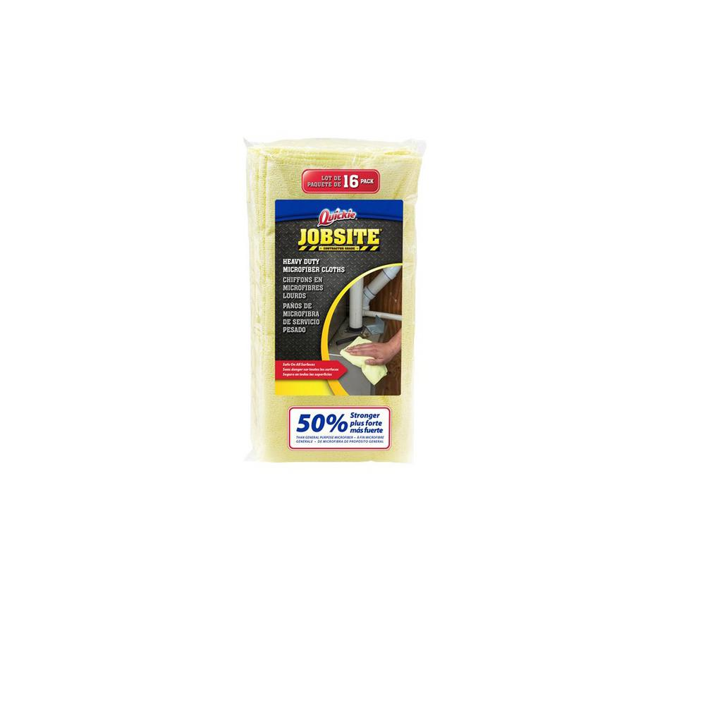 Quickie Jobsite Jobsite Heavy-Duty Microfiber Cloth (16-Pack)