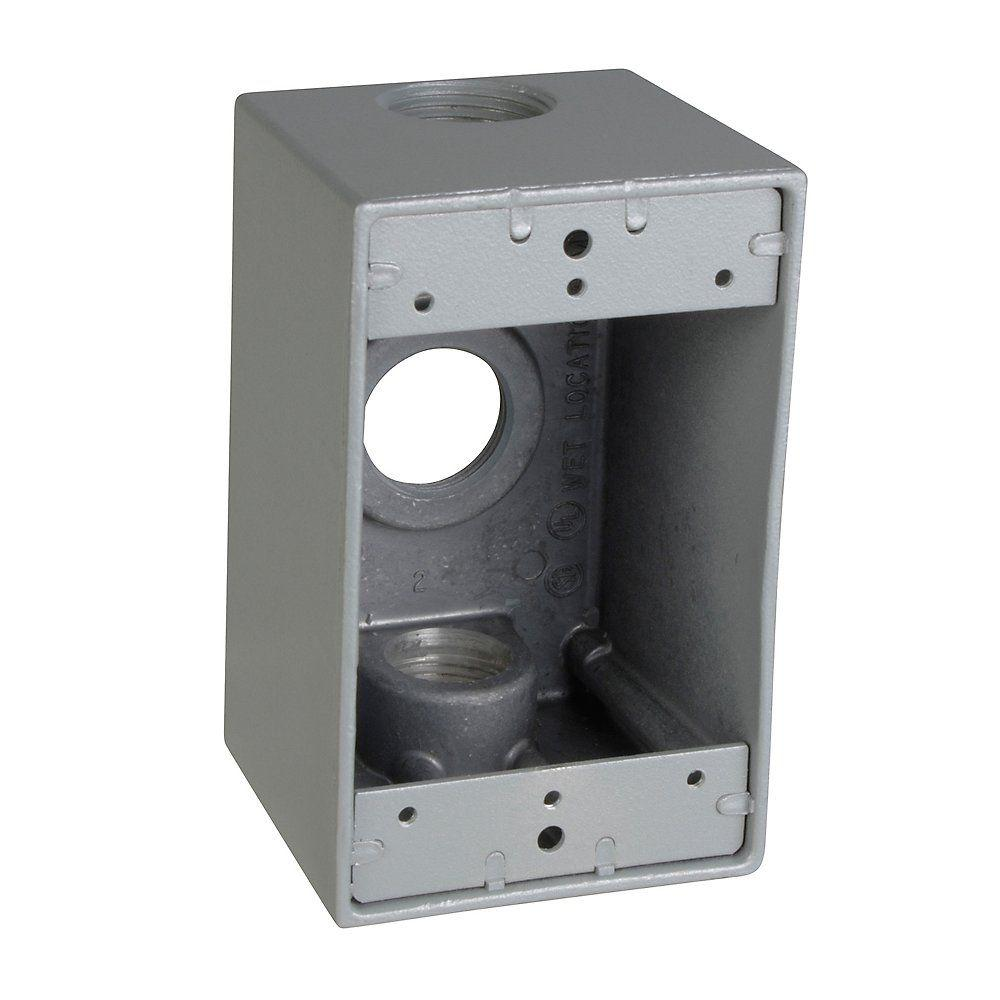 4 4 Weatherproof Electrical Box: Red Dot 1-Gang Rectangular Weatherproof Box With 3 3/4 In