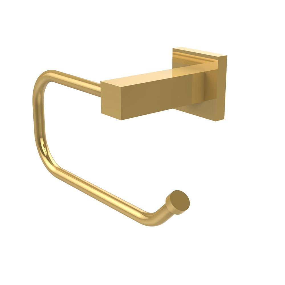Montero Collection Euro Style Single Post Toilet Paper Holder in Unlacquered
