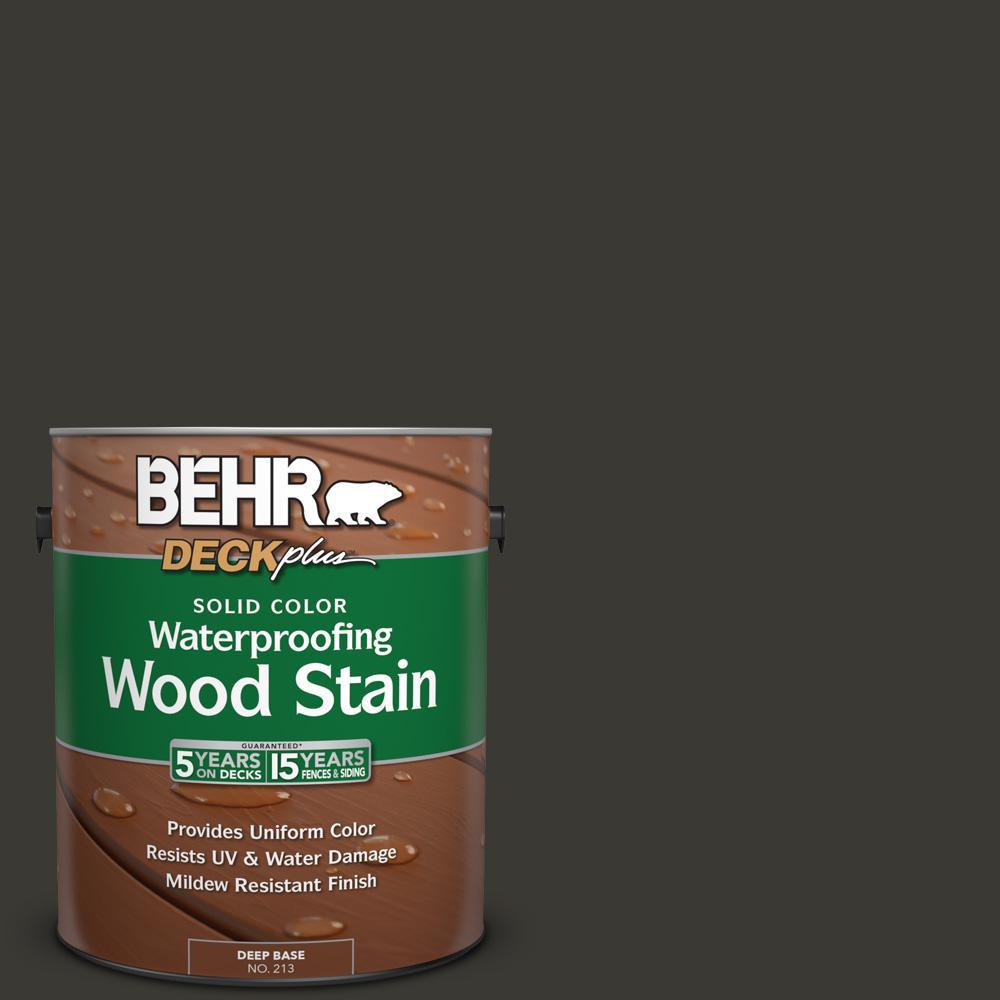 1 gal. #N510-7 Blackout Solid Color Waterproofing Wood Stain