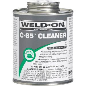 Weld-On PVC-CPVC C65 8 oz. Cleaner - Clear by Weld-On
