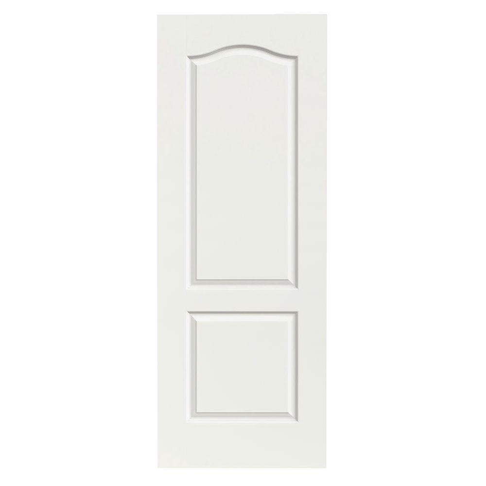 36 in. x 80 in. Princeton White Painted Smooth Solid Core