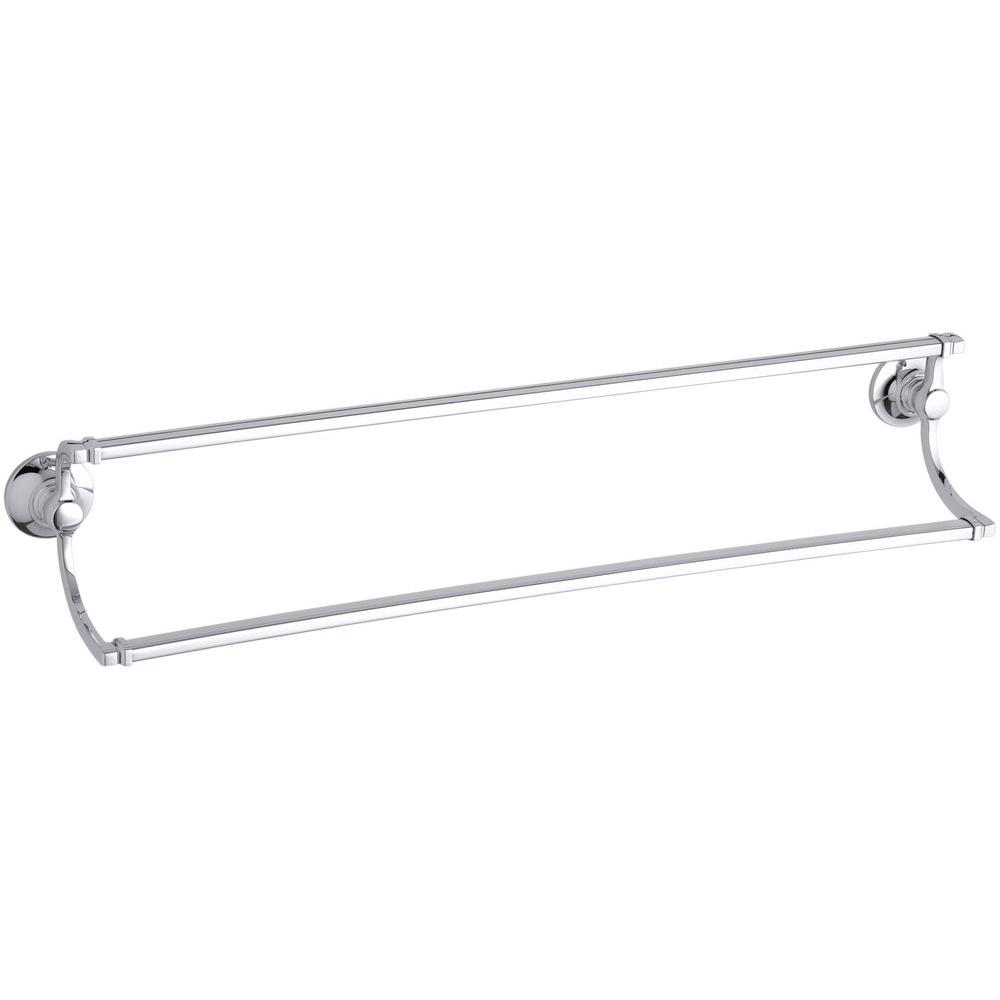 Bancroft 24 in. Double Towel Bar in Polished Chrome