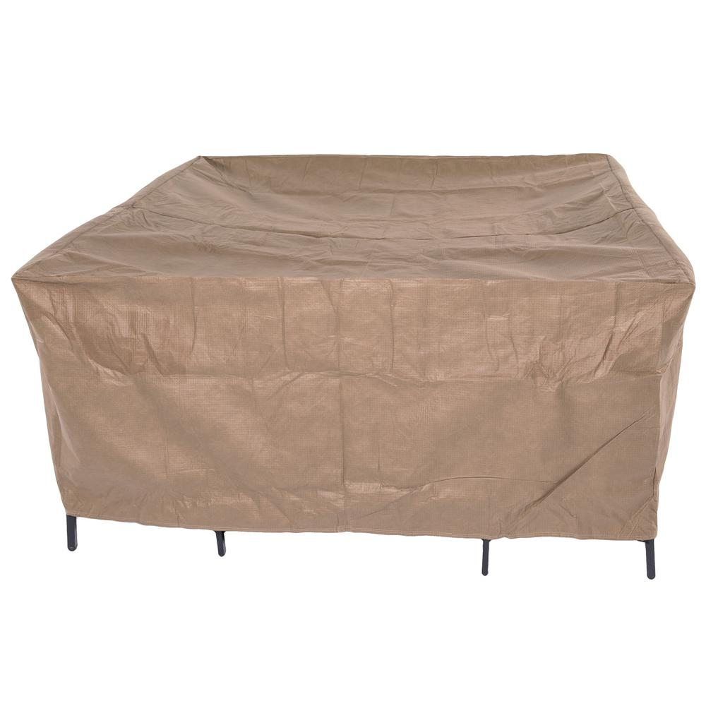Duck Covers Essential 92 In Square Patio Table And Chair