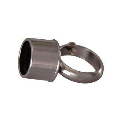 2 in. D-Rod Loop Connector in Polished Chrome