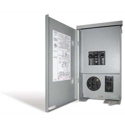 60 Amp RV Panel Outlet with 50 Amp Receptacle, Breakers and GFCI Duplex