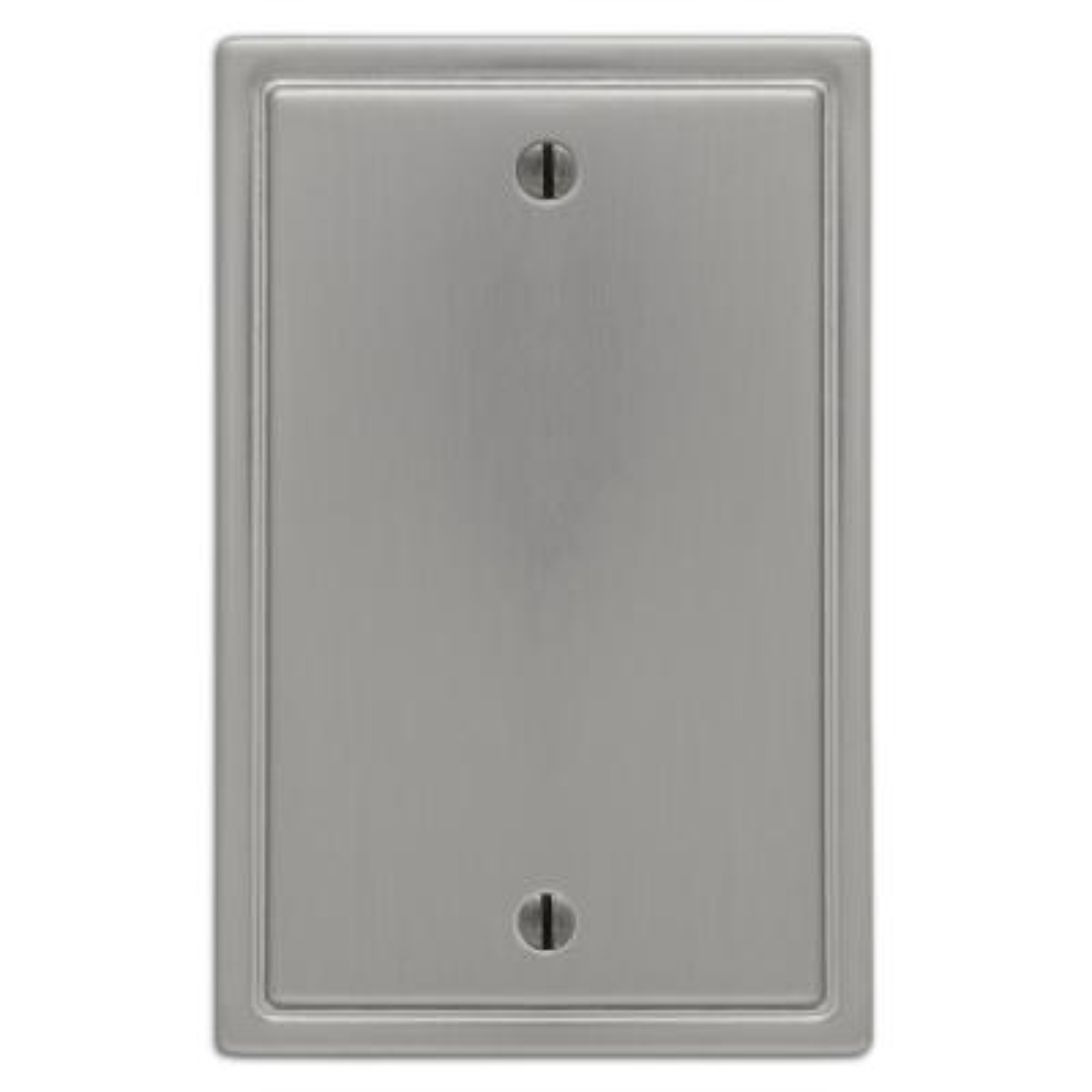 Moderne 1 Gang Blank Steel Wall Plate - Brushed Nickel