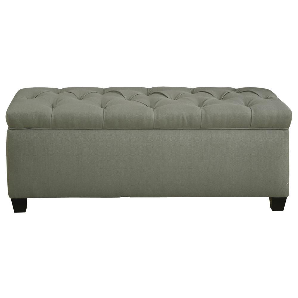MJL Furniture Designs Sean Candice Sea Foam Diamond Tufted Large Storage