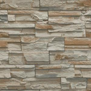 York Wallcoverings Natural Elements Flat Stone Wallpaper by York Wallcoverings