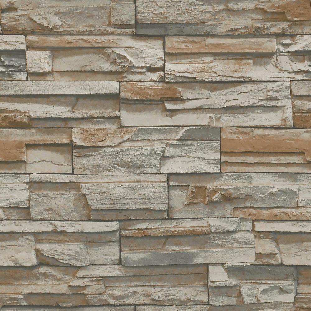 York Wallcoverings Natural Elements Flat Stone Wallpaper